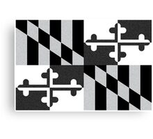 Black and White Maryland Flag Canvas Print