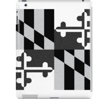 Black and White Maryland Flag iPad Case/Skin