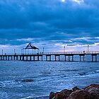 Clouds over jetty by crickmedia
