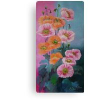 pink poppies solo Canvas Print