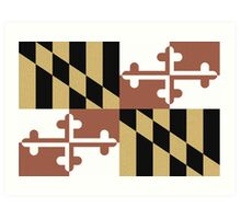Faded Maryland Flag Art Print