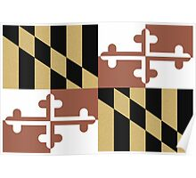 Faded Maryland Flag Poster