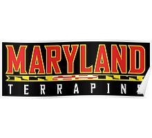 Maryland Terrapins Logo Black Poster