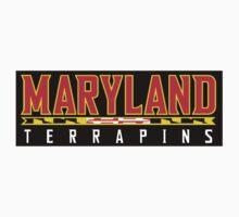 Maryland Terrapins Logo Black by Alanna Schloss