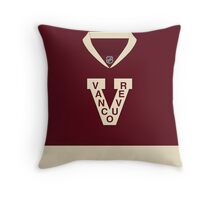 Vancouver Canucks 2014 Heritage Classic Jersey Throw Pillow