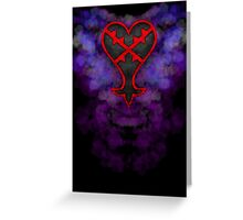 Faded Heartless Logo Greeting Card