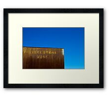metal and sky Framed Print