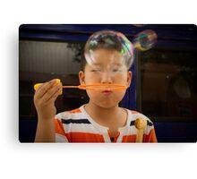 bubbles. Canvas Print