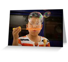 bubbles. Greeting Card