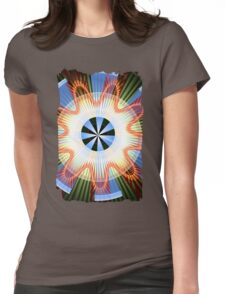 Rays, waves and circles pattern Womens Fitted T-Shirt