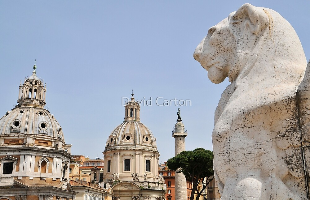 View from the Victor Emmanuel Monument, Rome, Italy by David Carton