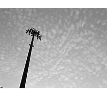 Stadium lights (in black and white) Photographic Print
