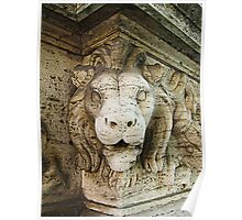 Lion sculpture, Ponte Vittorio Emanuele II, Rome Poster