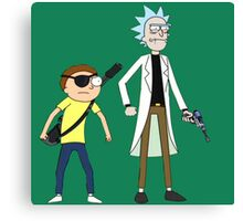 Evil Rick and Morty Canvas Print