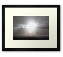 Flashing Photog Framed Print