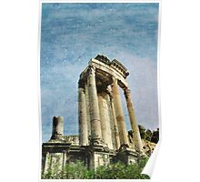 Temple of Vesta, The Forum, Rome, Italy Poster