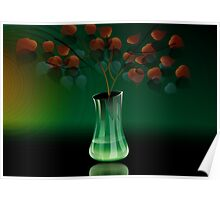Amazing beauty of the flower vase	 Poster