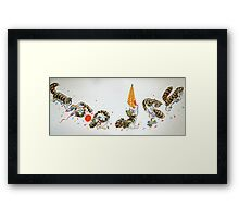 """Kitten Tumble's, from the childrens book """"The magnificent cat, by Sharon Thompson"""" available on Amazon Framed Print"""