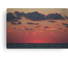 pink above the sea Canvas Print
