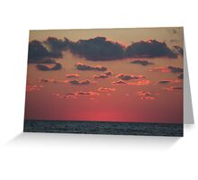 pink above the sea Greeting Card