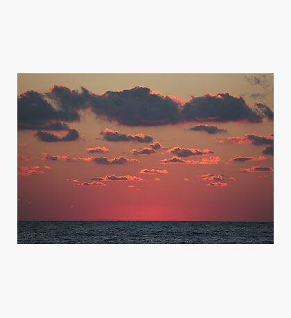 pink above the sea Photographic Print