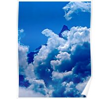 The Meije in the clouds Poster