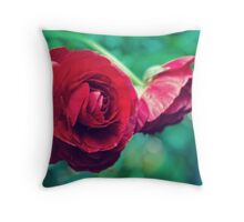 Red, Red Ranunculus Throw Pillow