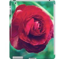 Red, Red Ranunculus iPad Case/Skin