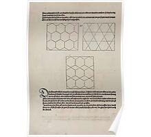 Measurement With Compass Line Leveling Albrecht Dürer or Durer 1525 0068 Repeating Shapes Poster