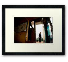 boat worker Framed Print