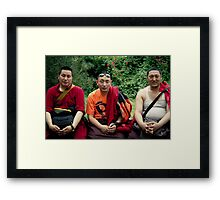 tibetan monks prefer nikon Framed Print
