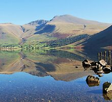 Wastwater Reflections, English Lake District. by Phil Mitchell