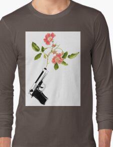Shoot Flowers, Not Bullets  Long Sleeve T-Shirt