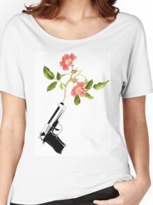 Shoot Flowers, Not Bullets  Women's Relaxed Fit T-Shirt
