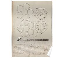Measurement With Compass Line Leveling Albrecht Dürer or Durer 1525 0146 Repeating and Folding Shapes Poster