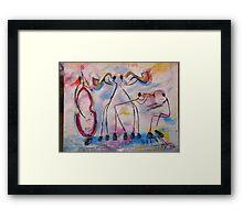 jazzy stick men Framed Print