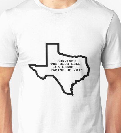 Blue Bell Ice Cream Famine BlueBell Ben and Jerrys Texas Shirt Unisex T-Shirt