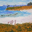 Facing South to Wanoria Point at Bulli by PamelaMeredith