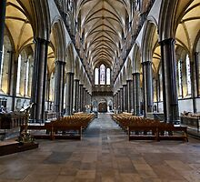 The Interior of Salisbury Cathedral by GBR309