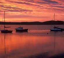 Amble harbour sunset by nigelphoto