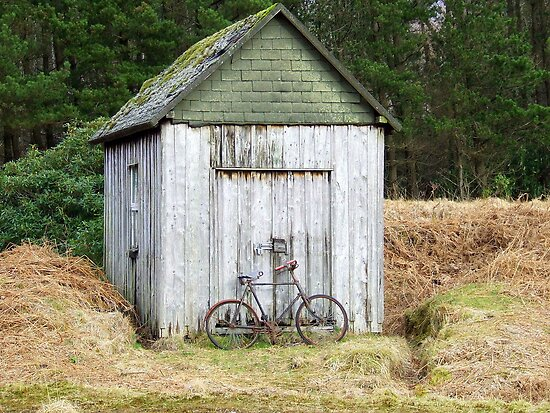 The Old Bike & Shed - Glencoe, Scotland by Chris Goodwin