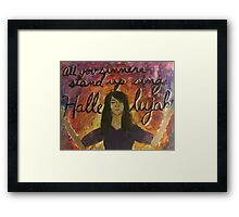 Stand Up Sing Hallelujah Framed Print