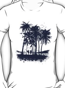 Palm Sunset - Hand drawn T-Shirt