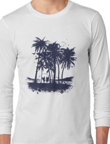 Palm Sunset - Hand drawn Long Sleeve T-Shirt