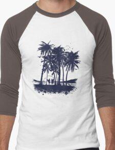 Palm Sunset - Hand drawn Men's Baseball ¾ T-Shirt