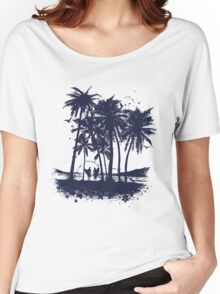 Palm Sunset - Hand drawn Women's Relaxed Fit T-Shirt