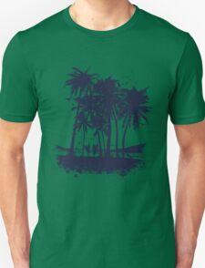 Palm Sunset - Hand drawn Unisex T-Shirt