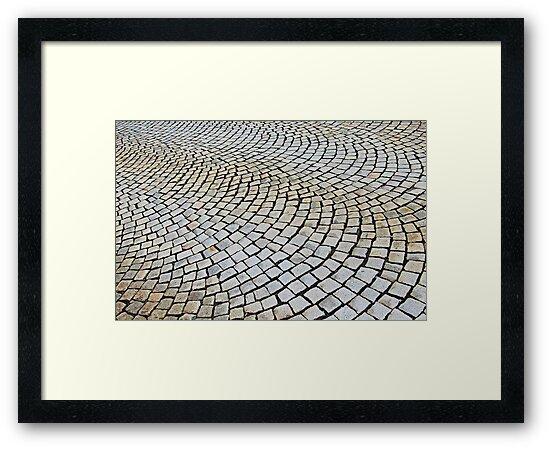 Cobbled stone, Bergen, Norway by buttonpresser