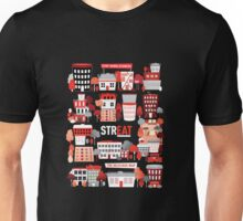 Streat Town on Black Unisex T-Shirt
