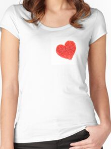 Candle Sprinkles Heart Shapes Women's Fitted Scoop T-Shirt
